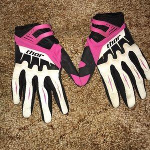 Thor Women's Motocross MX riding gloves